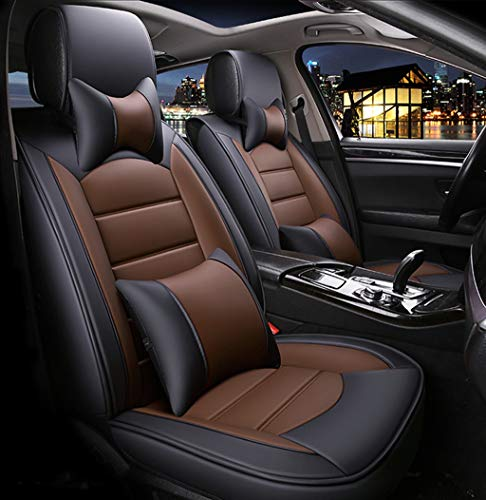 Car Set Cover Seat Cushions Universal,FREESOO Front Rear Full Set Linen Seat Cover for 5 Seats Vehicle Suitable for Year Round Use Black