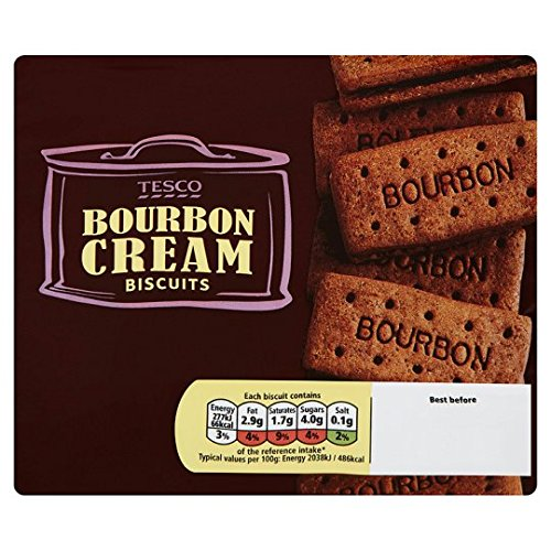 Tesco Bourbon Creams Biscuits 296G Cream Chocolate Biscuit