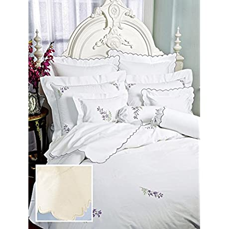 Bianca Luxury Bedding Sheet Sets King 100 Egyptian Cotton Sateen 1 Flat 1 Fitted 2 Std Shams Ivory On Ivory