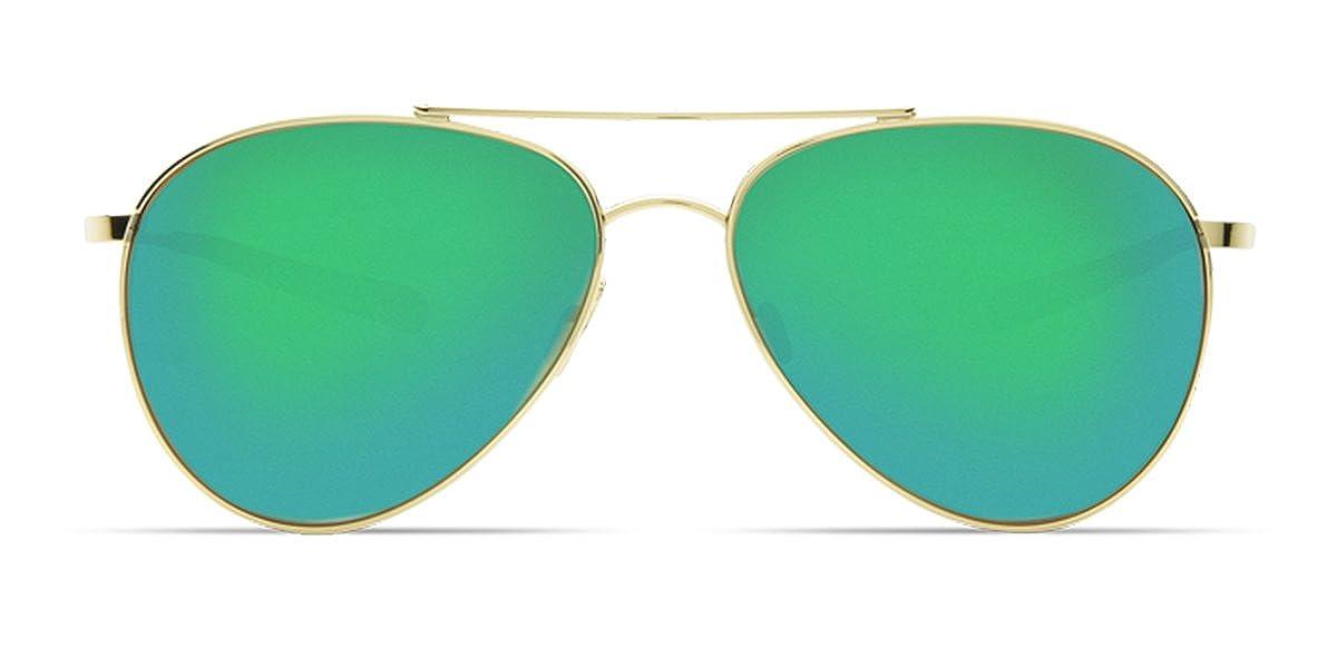 Costa Del Mar Piper Sunglasses Costa Del Mar Costa Del Mar PIP126OGMP Piper Green Mirror 580P Shiny Gold Frame Piper One Size Pro-Motion Distributing Direct