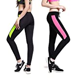 Crazy Prints Women's Lycra Stretchable Track Pants (FTW-01, Black, Small) - Pack of 2