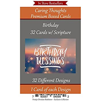 Birthday No Repeated Cards 32 Design Christian Religious Greeting Card Assortment Scripture In Every