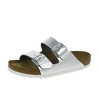 the best attitude 5f07b bc290 Birkenstock Womens Arizona Sandalen Liquid Silber Schuhe ...