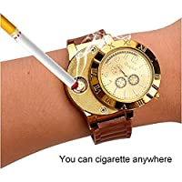 ENJOY-UNIQUE New Military USB Lighter Watch Men's Casual Wristwatches with Windproof Flameless Cigarette Cigar Lighter