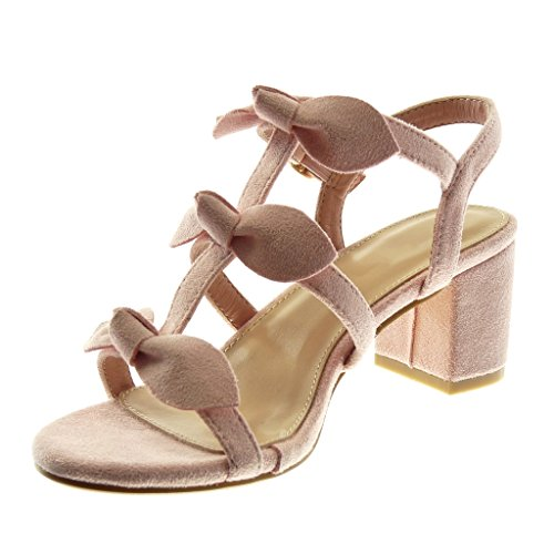 Angkorly Tac Multi Tobillo Correa Moda Correa Zapatillas de Sandalias Mujer Nodo qxq4O1aw