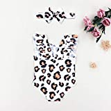 Newborn Baby Girls Swimsuit Leopard Print Swimsuit