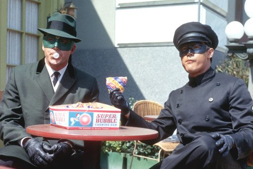 The Green Hornet 24x36 Poster Vam Williams & Bruce Lee in costumes - Williams Costume