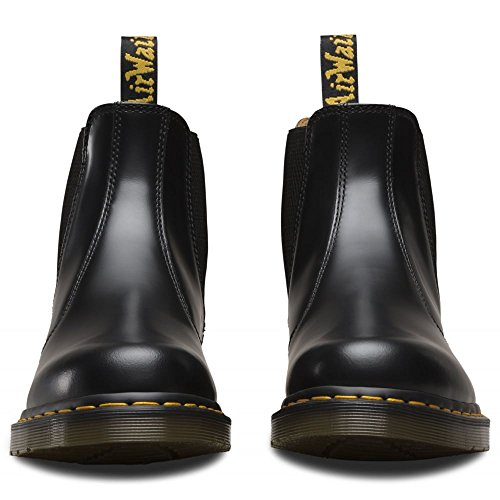 Dr. Martens Mens 2976 Yellow Stitch Smooth Chelsea Boots, Black Leather, 13 M UK, 14 M US