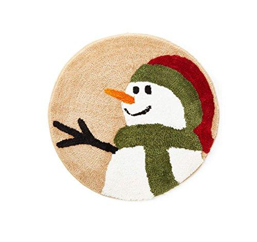(Winter Wonder Lane Rustic Snowman Land Bathroom Rug Plush 25 Inches)