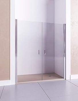 Modelo AFRODITA II - Mampara de ducha frontal de 2 puertas abatibles - Cristal 6 mm con ANTICAL INCLUIDO: Amazon.es: Bricolaje y herramientas