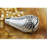 Bling Crystal Diamond Rhinestone Shift Knob Manual Automatic BUTTON-LESS Operated Shifter Universal Fit CarTruck SUV