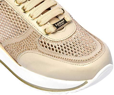 Baldinini Sneaker in Pelle e Tessuto Panna