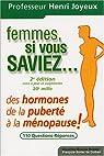 Femmes si vous saviez ! : Des hormones, de la puberté à la ménopause par Joyeux