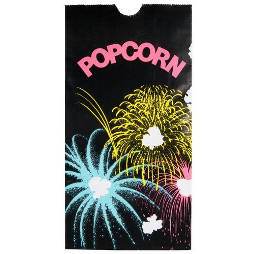 Bagcraft Papercon 300448 Theater Popcorn Bag with Black FunBurst Design, 46 oz Capacity, 8-1/4'' Length x 4-1/4'' Width x 2-1/2'' Height (Case of 1000) by Bagcraft Papercon