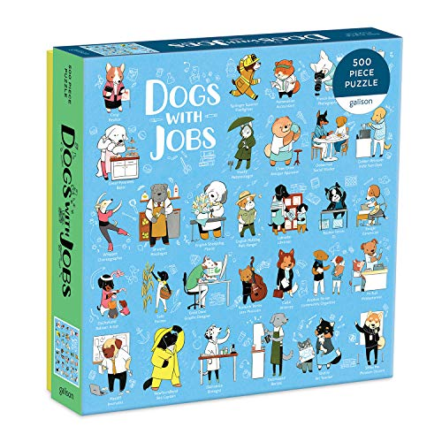 Galison Dogs with Jobs Puzzle, 500 Pieces,