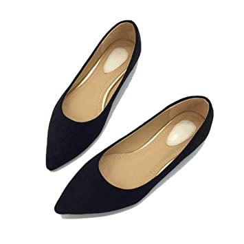 3e41eda364695 Amazon.com: August Jim Women Flats Shoes,Slip On Pointed Toe ...