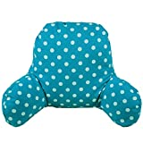 KiKi Monkey Cotton Linen Reading Pillows Cushions Kids Bed Rest Pillows Dot Pattern Back Support Cushions Also for Car Sofa Chair Cushions (Light Blue)