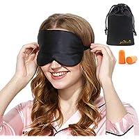 Viedouce Schlafmaske Seide Augenmaske,100% Hautfreundlich Seide Schlafmaske Frauen und Herren, Angenehme Schlafmaske mit Reisetasche Tasche,Ideal für Schlaf zu Hause und Auf Reisen