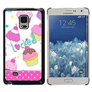 Exotic-Star ( Cupcake Sweets Polka Dot Pattern ) Fundas Cover Cubre Hard Case Cover para Samsung Galaxy Mega 5.8 / i9150 / i9152