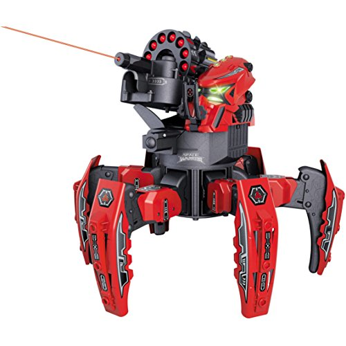 Apache Warrior Costume (Space Warrior 2.4Ghz Electronic Missile Weapon Remote Control Red Battle Robot)