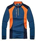 Kaisike Long Sleeve Rashguards Men Outdoor Sports Tops UV Sun Protection Quick Dry Running Shirts Dark Blue M