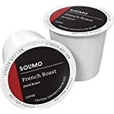 Amazon Brand - 100 Ct. Solimo Dark Roast Coffee Pods, French Roast, Compatible with Keurig 2.0 K-Cup Brewers