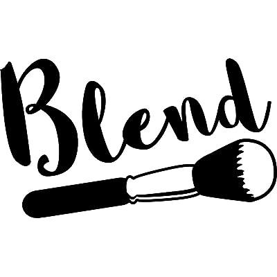 KCD Blend Makeup Artist Vinyl Decal Sticker|Cars Trucks Vans Walls Laptops Cups|Black|7.5 in|KCD887: Automotive