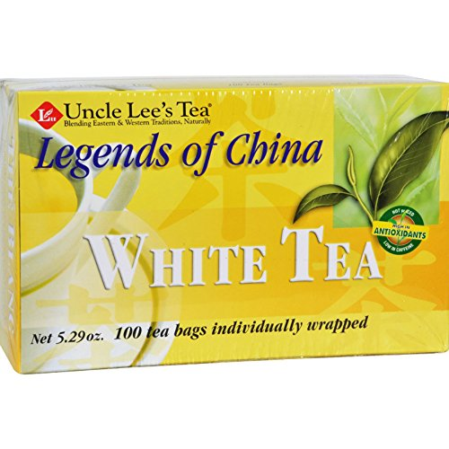 Uncle Lees Legends of China White Tea - Low Caffeine - 100 Tea Bags (Pack of 3)