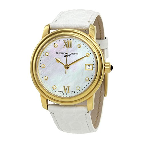 Frederique Constant Mother of Pearl Diamond Ladies Watch FC-303MPWD2P5