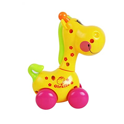 Finance Plan Cute Cartoon Animal Giraffe Clockwork Wind-Up Baby Toys Kid Child Birthday Gift : Baby