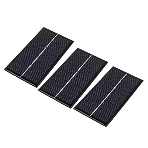 Uxcell a16051700ux0984 3Pcs DC 6V 1W Rectangle Energy Saving Mini Solar Cell Panel Module for Charger (Pack of 3)