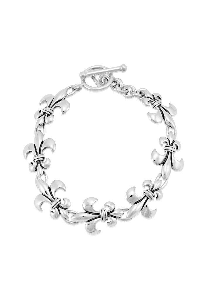 Mignon Faget Fleur de Lis Linking Bracelet Sterling Silver, 7.25'' by Mignon Faget (Image #1)