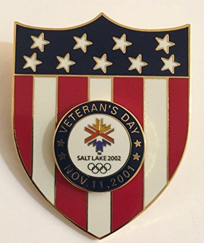 (Rare Veteran's Day 2001 Stars And Stripes Salt Lake City Winter Olympics Pin LE 11/1000)