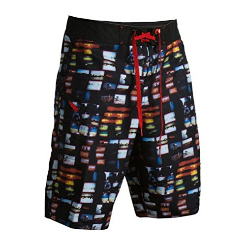 Matix Board Shorts Surf Trunks MILLER 19 BLACK Sz 28 Skate ()