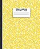 img - for Composition Notebook: Wide Ruled Paper Notebook Journal | Pretty Wide Blank Lined Workbook for Teens Kids Students Girls for Home School College for Writing Notes | Cute Bright Yellow Print book / textbook / text book