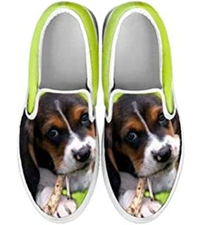 Basset Hound Slip Ons Shoes For Women
