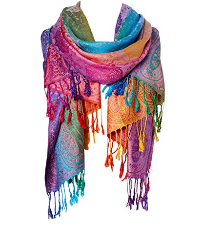 (Fashion Women's Silk Scarf Luxury Satin Shawl Wraps (Purple))