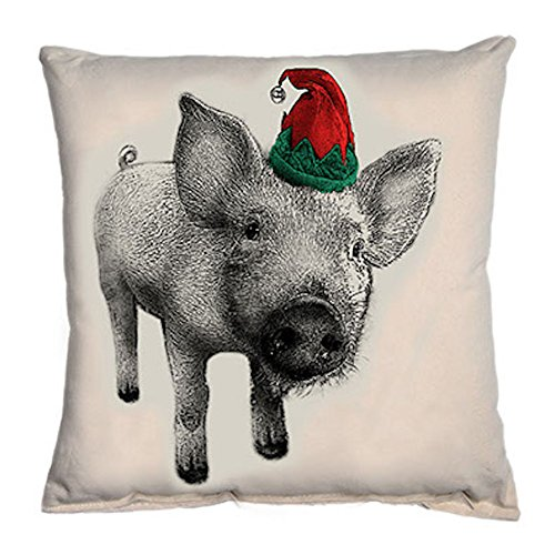 Eric & Christopher - Screen Printed Pillow - Elf Pig ()