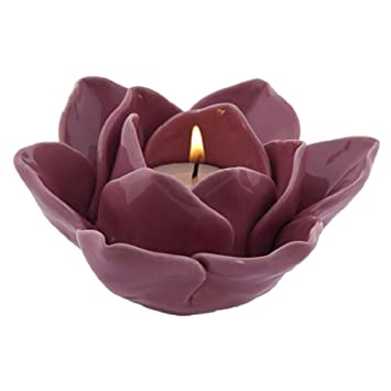 Amazon small lotus flower ceramic tea light candle holder small lotus flower ceramic tea light candle holder light pink mightylinksfo