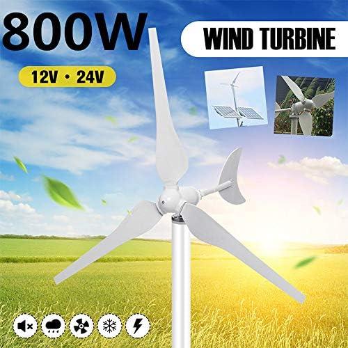 TQ 800W Generador De Viento, AC12V / 24V del Viento Turbinas De Viento Generador De Turbinas De Nylon con 3 Hojas De Fibra para El Hogar Solar Farola, Barco,24v: Amazon.es: Deportes y