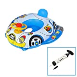 Sealive® Inflatable Swimming Buggy Float Seat Boat,Horn Car Sunshade Float With Canopy,1 Piece Pool Floats For 6-36 Months Old