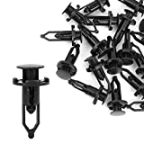 uxcell 20 Pcs Push-Type Automotive Clips Rivet