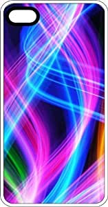 Abstract Neon Glowing Wisps Clear Rubber Case for Apple iPhone 4 or iPhone 4s