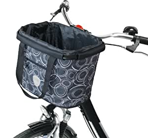Fabric Print Bike Basket 20lb