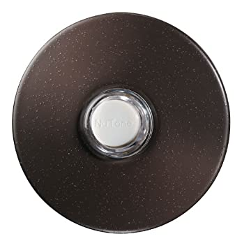 NuTone PB41LBR Wired Lighted Round Stucco Door Chime Push Button,  Oil Rubbed Bronze   Doorbell Push Buttons   Amazon.com