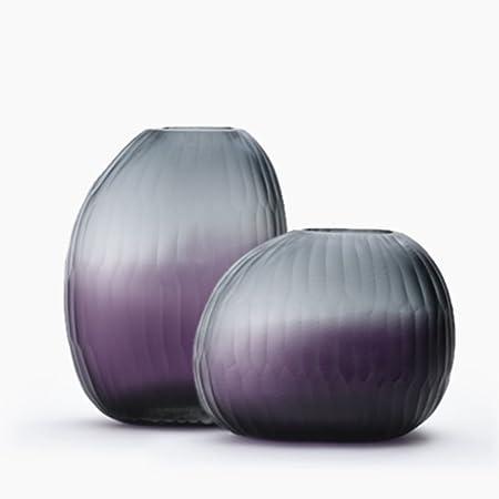 Floreros cilindro de cristal set de 2 centros de mesa decorativos para el hogar o boda por-B: Amazon.es: Hogar