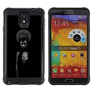 "Hypernova Defender Series TPU protection Cas Case Coque pour SAMSUNG Galaxy Note 3 III / N9000 / N9005 [Negro Chica místico oscuro Moda""]"