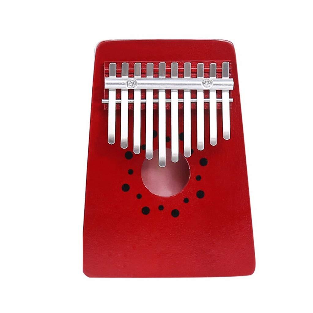 Zyj 10-Key Finger Piano Popular Kalimba Mahogany Thumb Piano Portable 10-Tone Beginner Musical Instrument