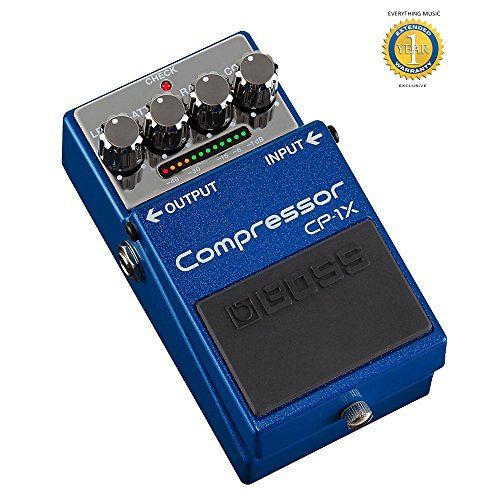 Boss CP-1X Compressor Pedal with 1 Year EverythingMusic Extended Warranty Free by BOSS Audio