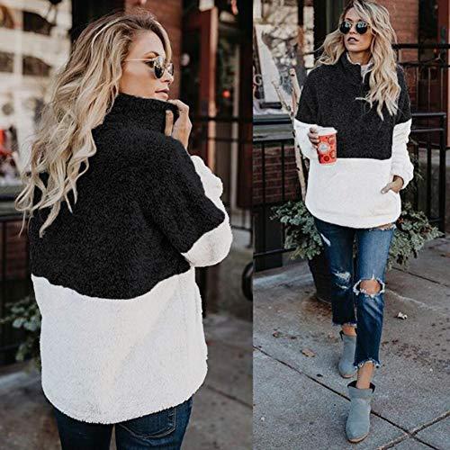 7dcf3c27da48c1 BTFBM Women Long Sleeve Zipper Sherpa Sweatshirt Soft Fleece Pullover  Outwear Coat